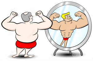 fat-muscle-man-vector-illustration-who-sees-himself-differently-mirror-36215380