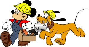 Pluto & Mickey Mouse